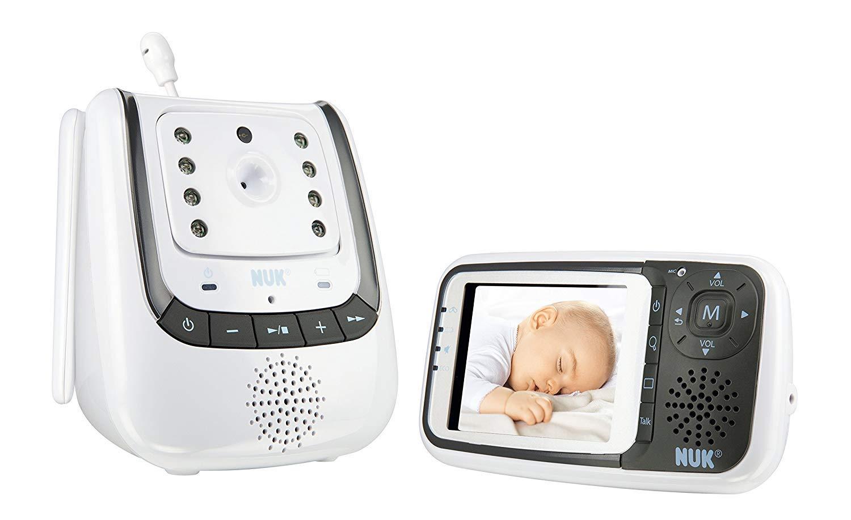 NUK Babyphone mit Kamera Eco Control+ Video, mit Gegensprechfunktion & Temperatursensor, frei von hochfrequenter Strahlung im Eco Mode