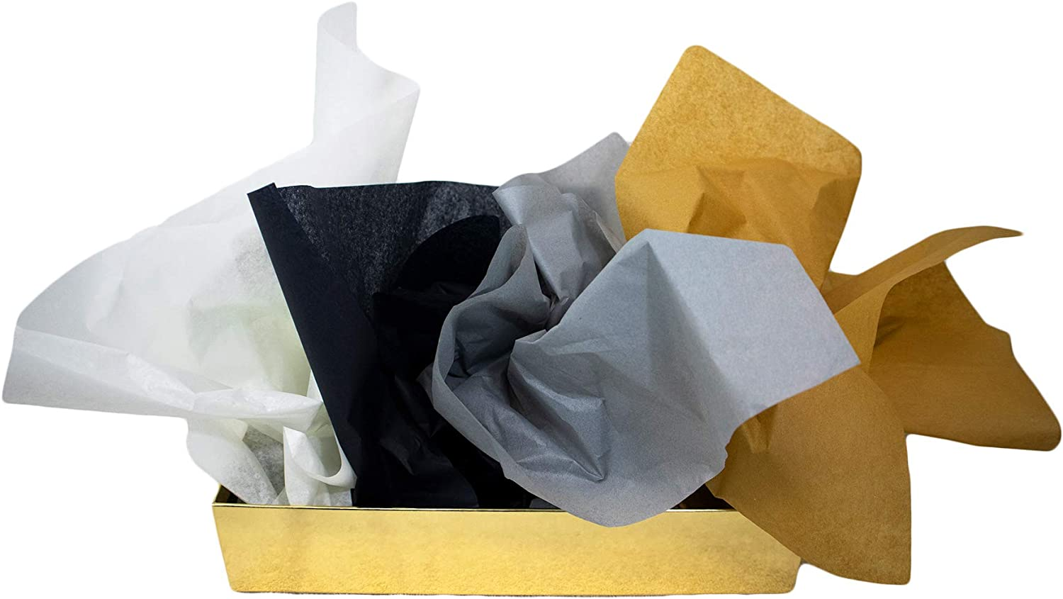 Birch, Black, Gray /& Antique Gold Art /& Crafts /& DIY Projects Made in USA Themed 48-Sheet Color Coded Tissue Paper Pack for Gift Packaging