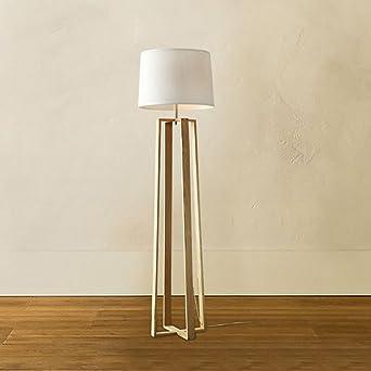 LightSei  Moderne Minimalist Kreative Stehlampe Wohnzimmer Schlafzimmer  Arbeitszimmer Stehlampe Aus Holz Holzstehlampe