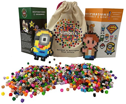 Award Winning Simbrix - Geek Kit For fans of Perler Beads & Lego -no pegboard or iron required by Simbrix Ltd
