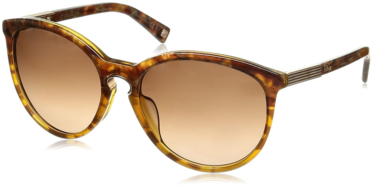bbc1bd4970c52 Amazon.com  CHRISTIAN DIOR Entracte 1 XTCD8 Brown Marble Gradient Round  Sunglasses  Clothing