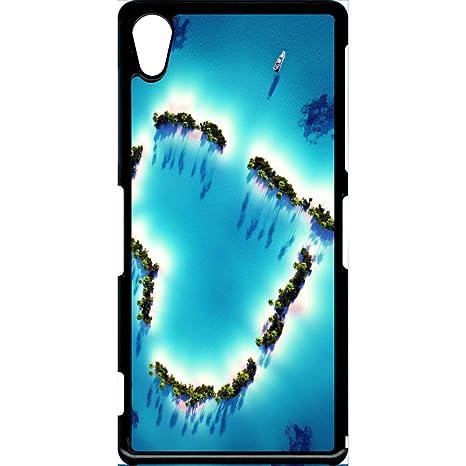 Carcasa Sony Xperia Z2 corazón playa: Amazon.es: Electrónica