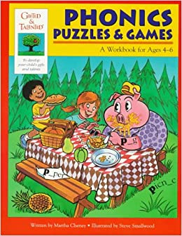 Book Phonics Puzzles and Games: Workbook Age 4-6 Gifted and Talented