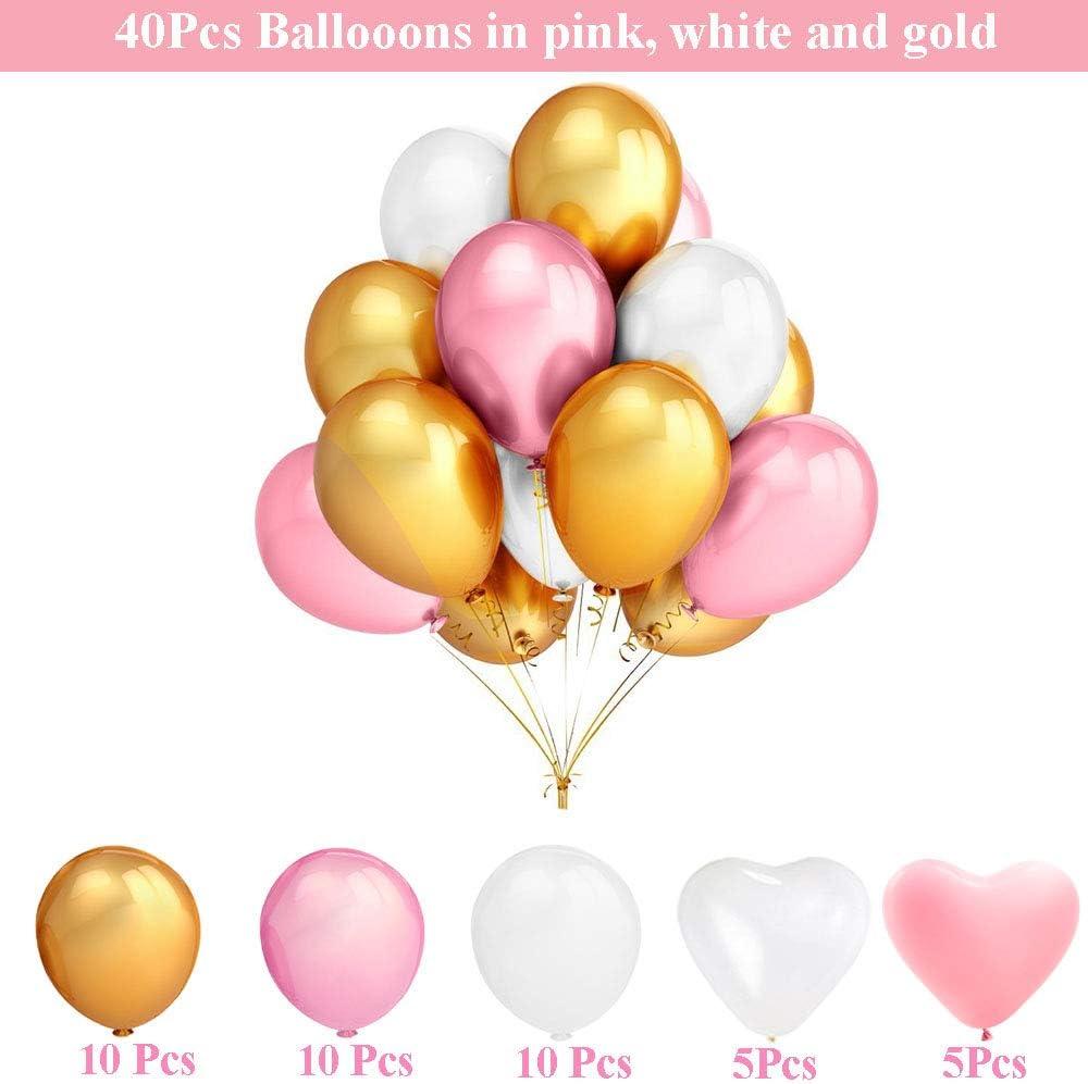 Geburtstagsdeko Für Mädchen Jungen Frauen Männer Geburtstagsdeko Rosa Blau Schwarz Gold Rosa Spielzeug