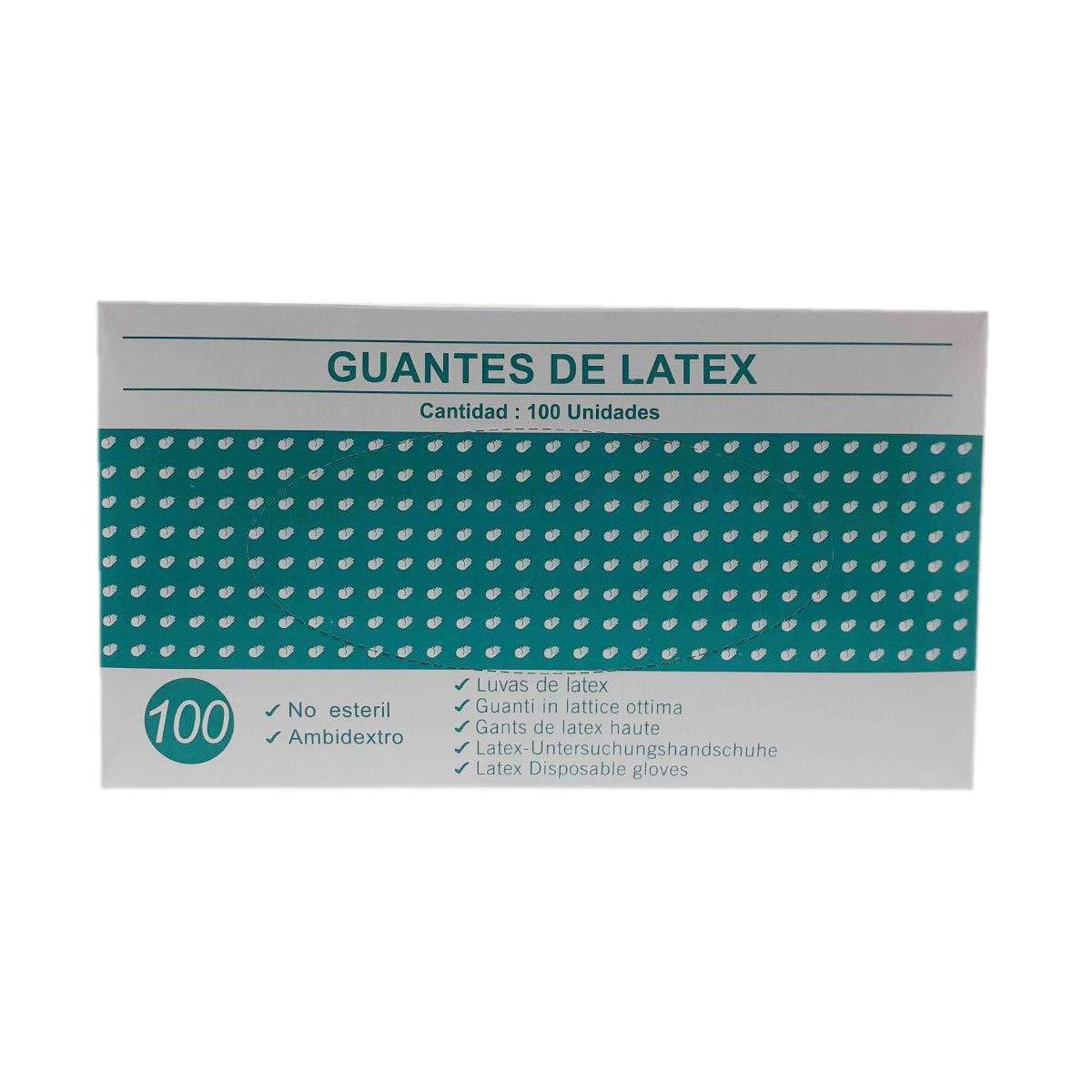 Peque/ño Blanco o Azul Guantes de latex caja de 100U