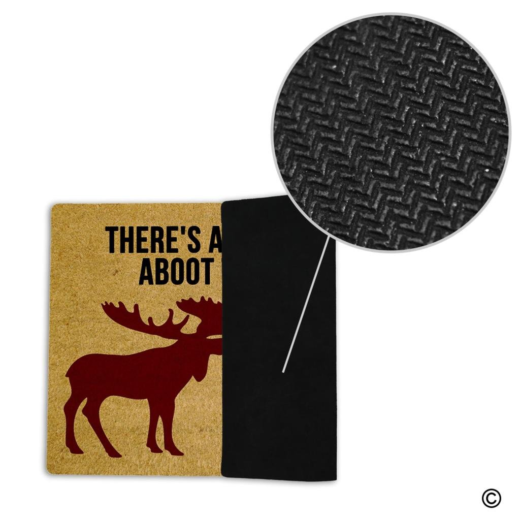 Amazon.com : MsMr Entrance Door Mat Funny Doormat There's A Moose ...