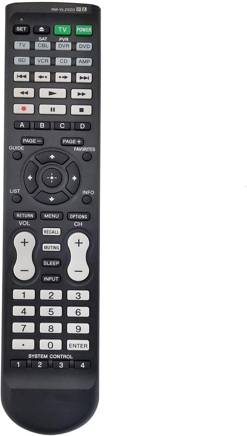 PROROK Remote Control RM-VLZ620 RMVLZ620 Compatible for RM-VLZ620/C ARCAM CR80 CR100 RM-VZ220T RM-VZ320 for Sony LCD LED TV DVD BD DVR Player