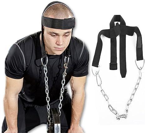 grofitness cinturón de arnés de cuello para levantamiento de peso ...