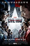 Posters USA Marvel Captain America Civil War Movie Poster GLOSSY FINISH - FIL259 (24'' x 36'' (61cm x 91.5cm))