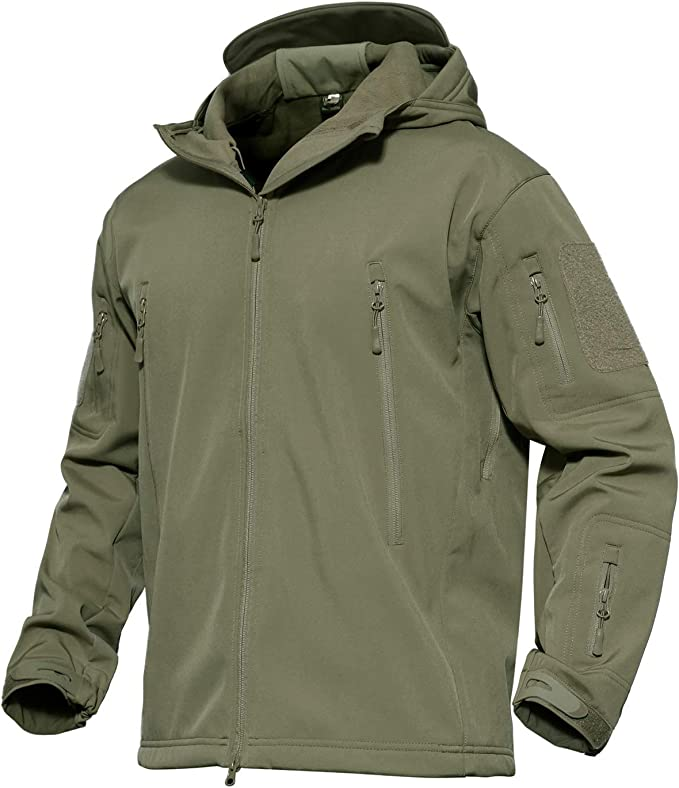Best Hunting Rain Gear: MAGCOMSEN Men's Tactical Army Hunting Jacket