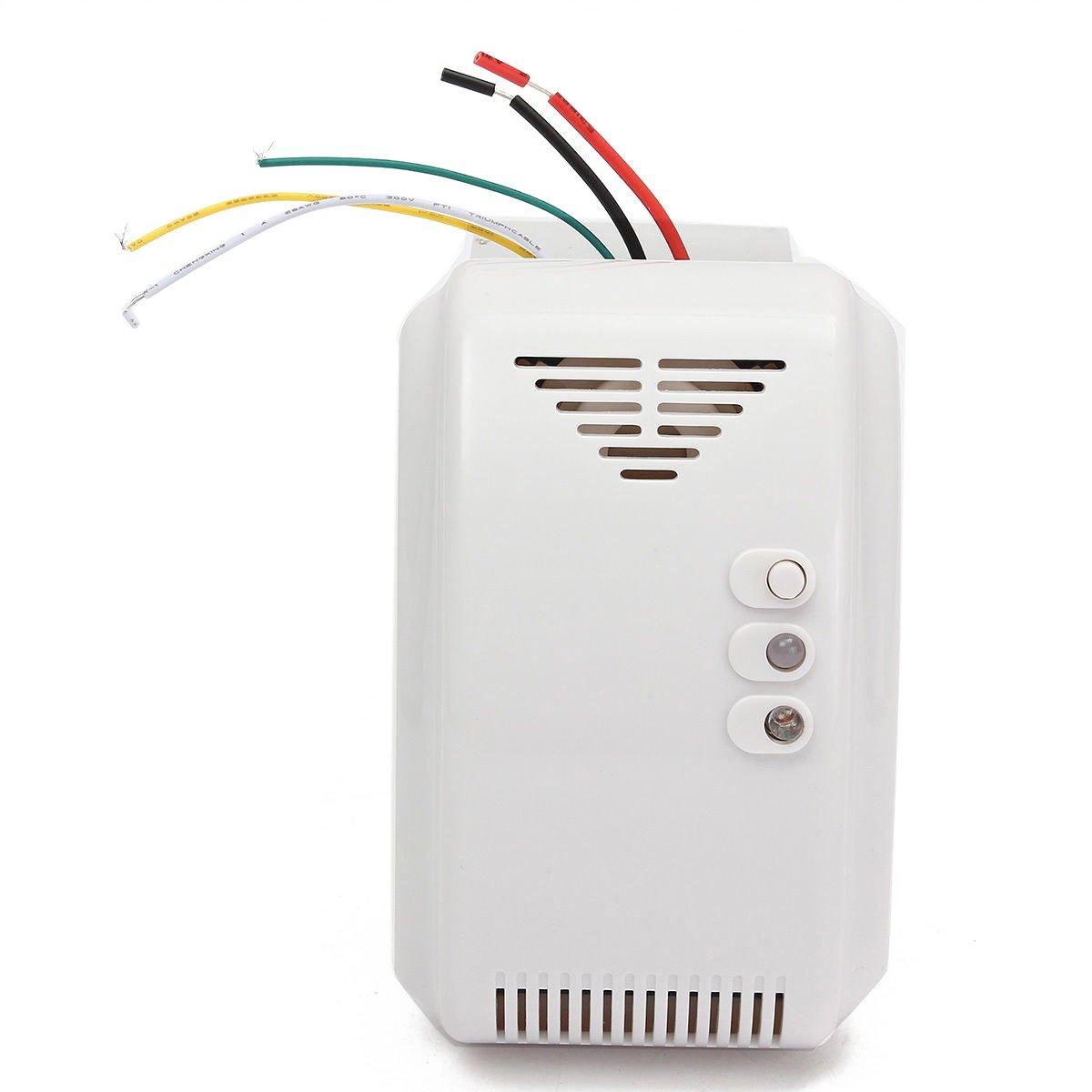 Gas Leak Detector High Sensitivity White 12V Combustible Gas Leak LPG Natural Gas Detector Propane Alarm by Liushuliang (Image #1)