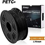 SUNLU PETG 3Dフィラメント1.75mm 1KG(2.2lb)、PETG 3Dプリンタフィラメント、寸法精度+/- 0.02mm、1kgスプール、1.75mm、ブラックPETG