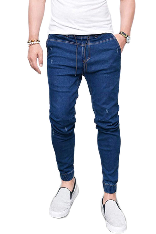 Sopliagon Mens Denim Pants Casual Stretchy Skinny Straight Jeans