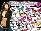 Wild Butterflies Temporary Tattoos