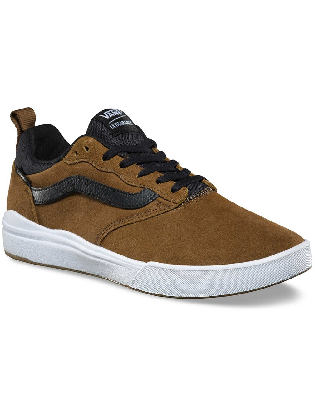 3ce11cdf2e1b65 Galleon - Vans Men s Ultrarange Pro Skate Shoe (Teak Black White