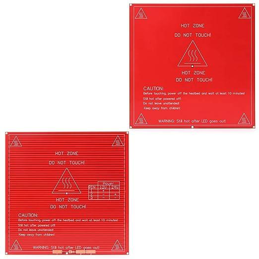 BIlinli Impresora 3D PCB Heatbed MK2B Heat Bed 12/24 Módulo de ...