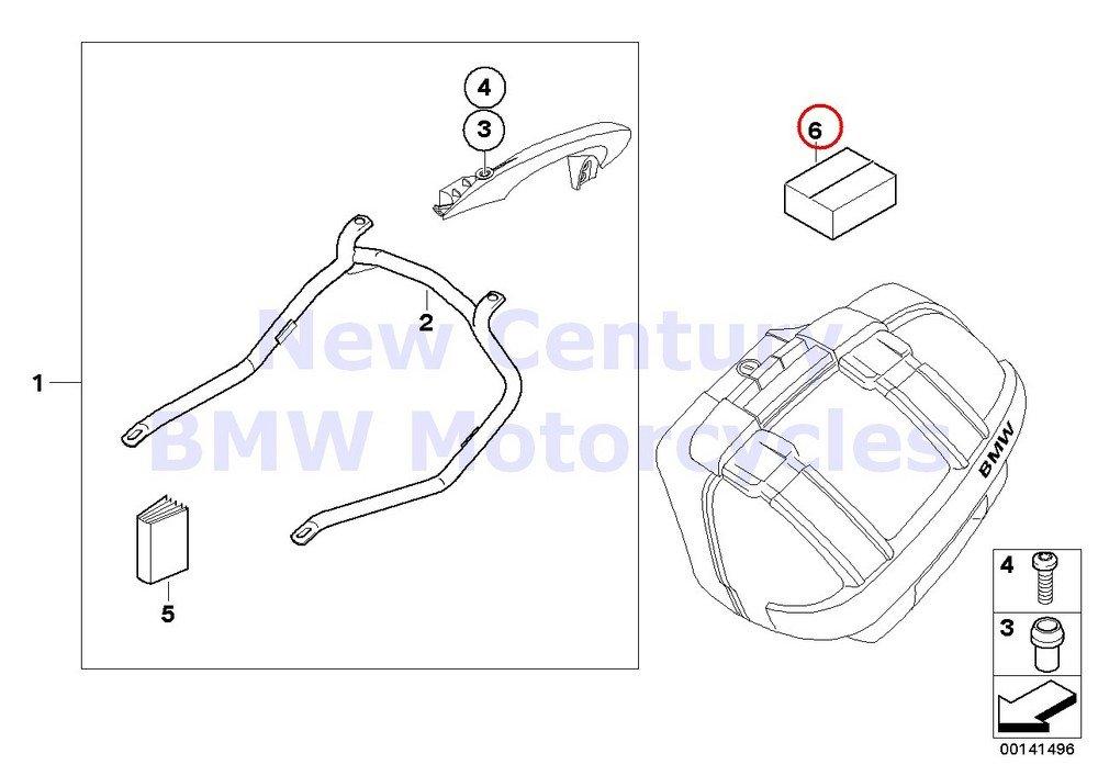 BMW Genuine Motorcycle Case Holder/Mounting Parts Mounting Kit For Case Holder K1200S K1300S K1200R K1200R Sport K1300R