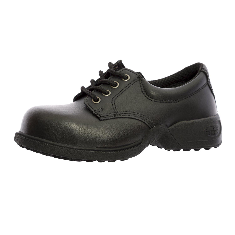 Shoes For Crews Unisex Commander Leather Shoes 5257 Size 4 Men's 5.5 Women's Black