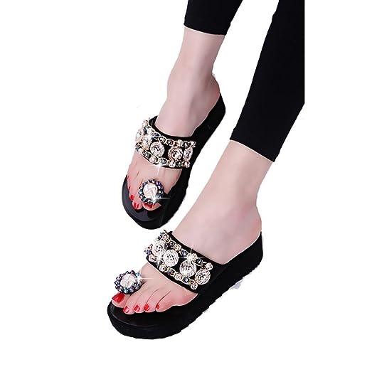 Women Leisure Sandal Peep-Toe Flip Flops Thick Bottom Slippers Sandals Beach Slippers