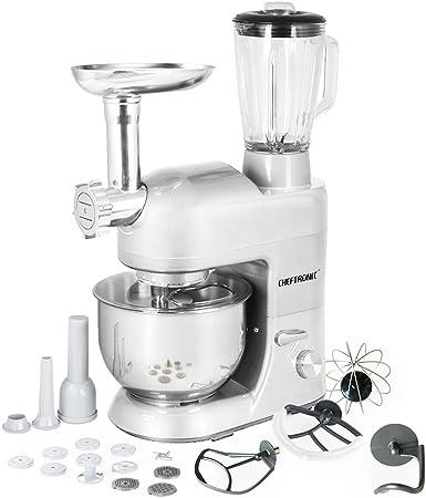 CHEFTRONIC Robot de Cocina Multifunción Batidora Amasadora SM-1086 220-240V/800W 5.3qt Máquina Eléctrica Mezcladora Multifuncional para Cocina con Función de Trituradora de Carne, Enchufe británico: Amazon.es: Hogar