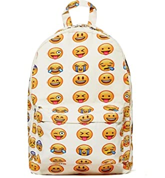 Amazon.com : Aofit-j Emoji Backpack Smiling Face Casual Daypacks ...