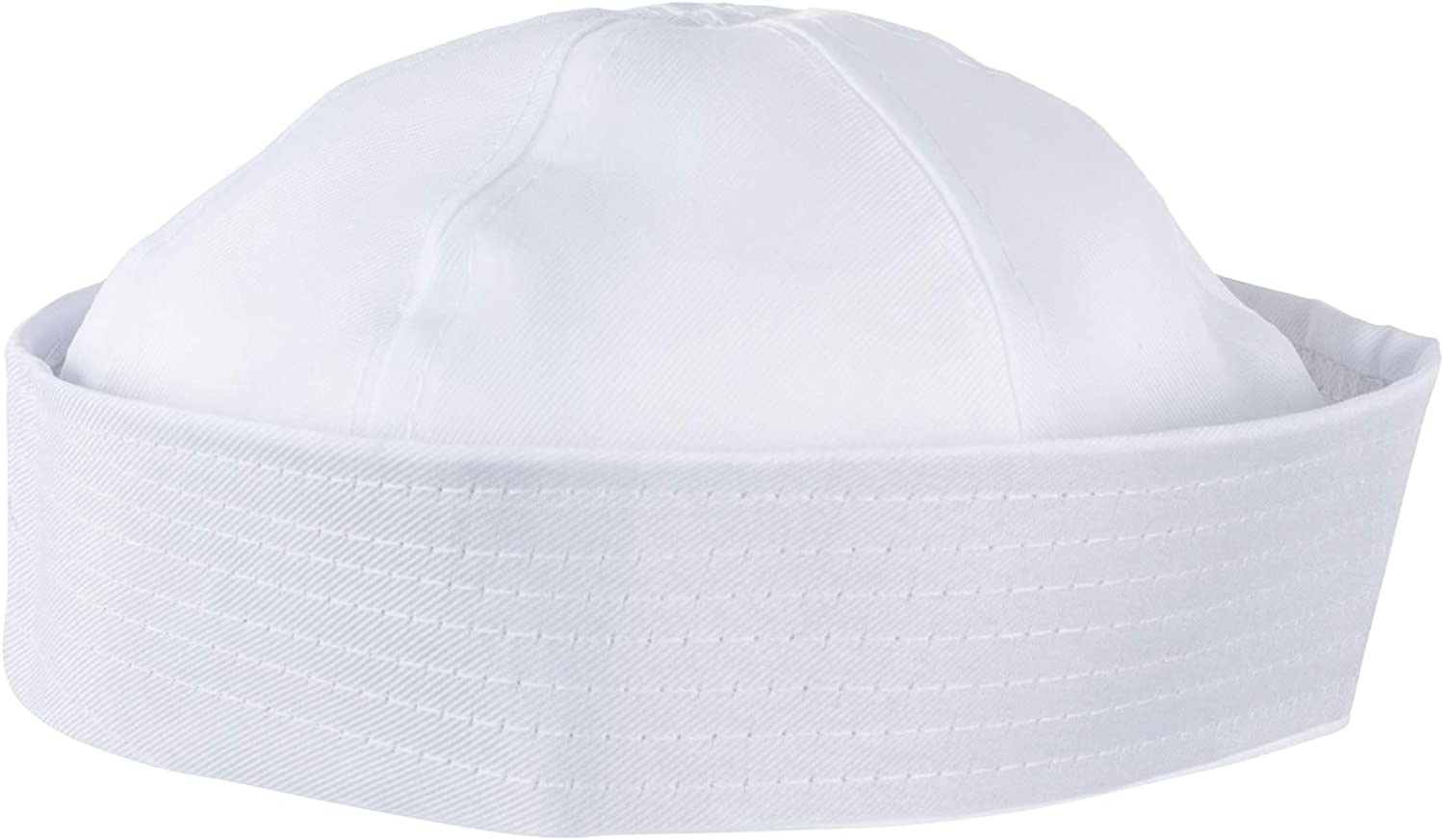 ADULT-NEW-ONE SIZE SAILOR COSTUME BOATING HAT ACCESSORY-WHITE