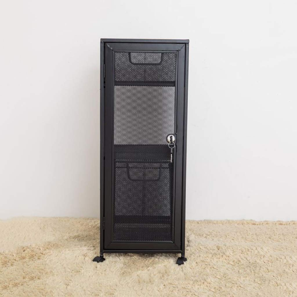 Office Accessories for Desk Iron Metal Grid File Cabinets 25.535.564CM (Color : Black)