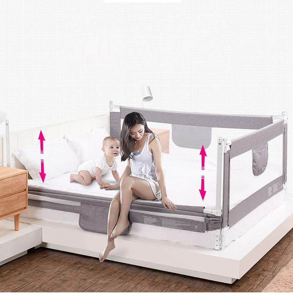 LYFHL Bettgitter gr/ö/ße : 120cm Sicherer Schlaf Einzelnes faltbares Sicherheitsbett mit bel/üftetem Netz f/ür Kleinkinder Queen-Size-Bettschutz f/ür Kinder