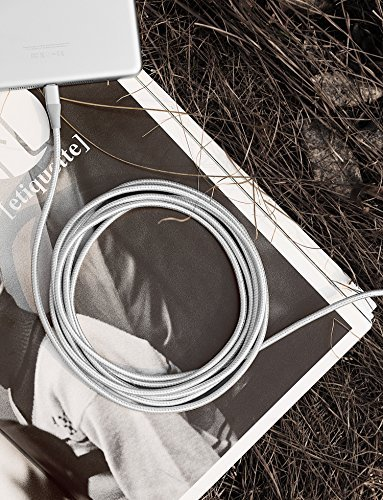 Anker PowerLine+ II Lightning Cable (10ft), MFi Certified for Flawless Compatibility with iPhone X/8/8 Plus/7/7 Plus/6/6 Plus/5/5S and More(Silver) by Anker (Image #6)