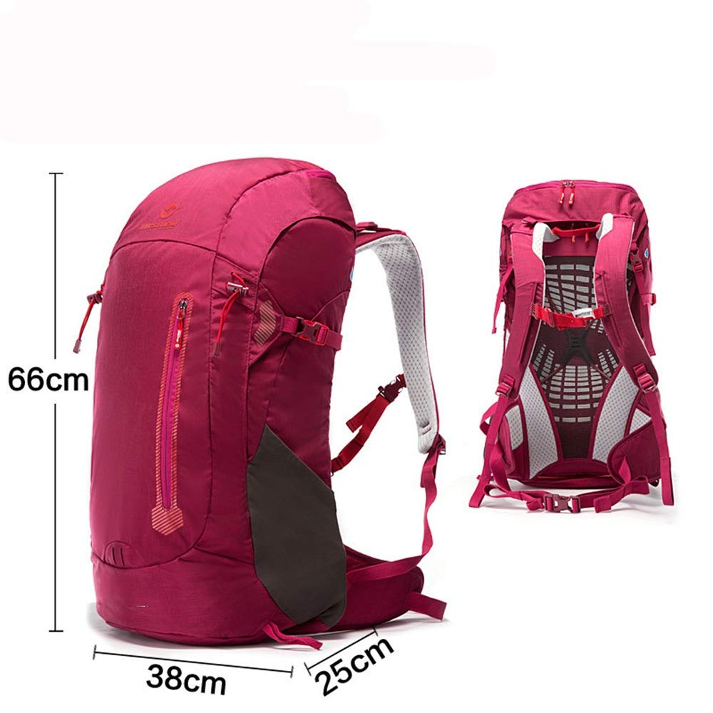 実用的 アウトドアスポーツバックパック45L大容量ハイキングバッグ、多機能の絶妙なバックパック (色 : 赤) 赤