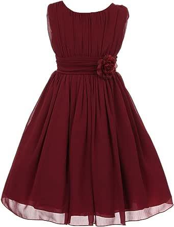 iGirlDress Little Girls' Yoro Chiffon Flower Girls Dress 4-16Y