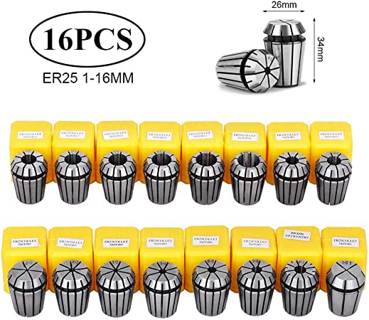 12pcs Spring Collet Set for CNC Workholding Engraving milling Lathe Tool ER32