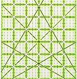 """Omnigrid Non-Slip quilter's Ruler, 6"""" x 24"""", Neon"""