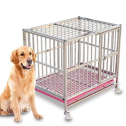 Casetas y Cajas para Perros Perro Jaula Perro Grande Acero Inoxidable Desmontable Extra Grande Perro pequeño
