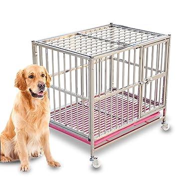 Casetas y Cajas para Perros Perro Jaula Perro Grande Acero Inoxidable Desmontable Extra Grande Perro pequeño con baño Universal Medio Perrera Perrera ...