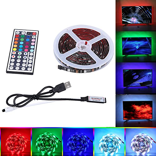 "Price comparison product image SPARKE Upgraded LED TV Backlight, 2x1.64ft+2×3.28ft USB RGB Waterproof LED TV Strip Light Multicolor TV Mood/Ambient Lighting Strip Kit for 45""-70""HDTV and Monitor"