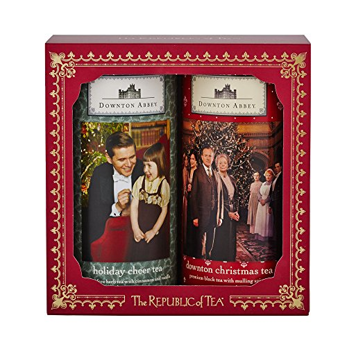 The Republic Of Tea Downton Abbey Christmas Gift Set (Christmas Tea, Holiday Cheer Tea, 2 Tins of 36 Tea Bags Each)