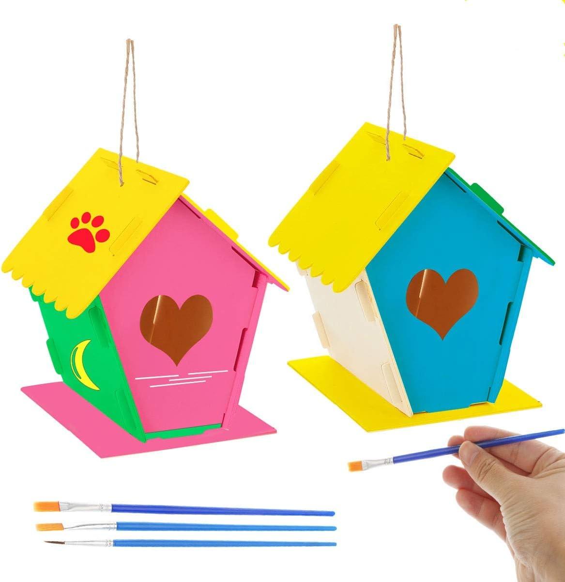 DIY Bird House Kit Design Your Own Wooden Birdhouses for Girls Boys Toddlers