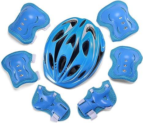 SDYYJK Protecciones Infantiles Skate Bicicleta Monopatín Casco ...