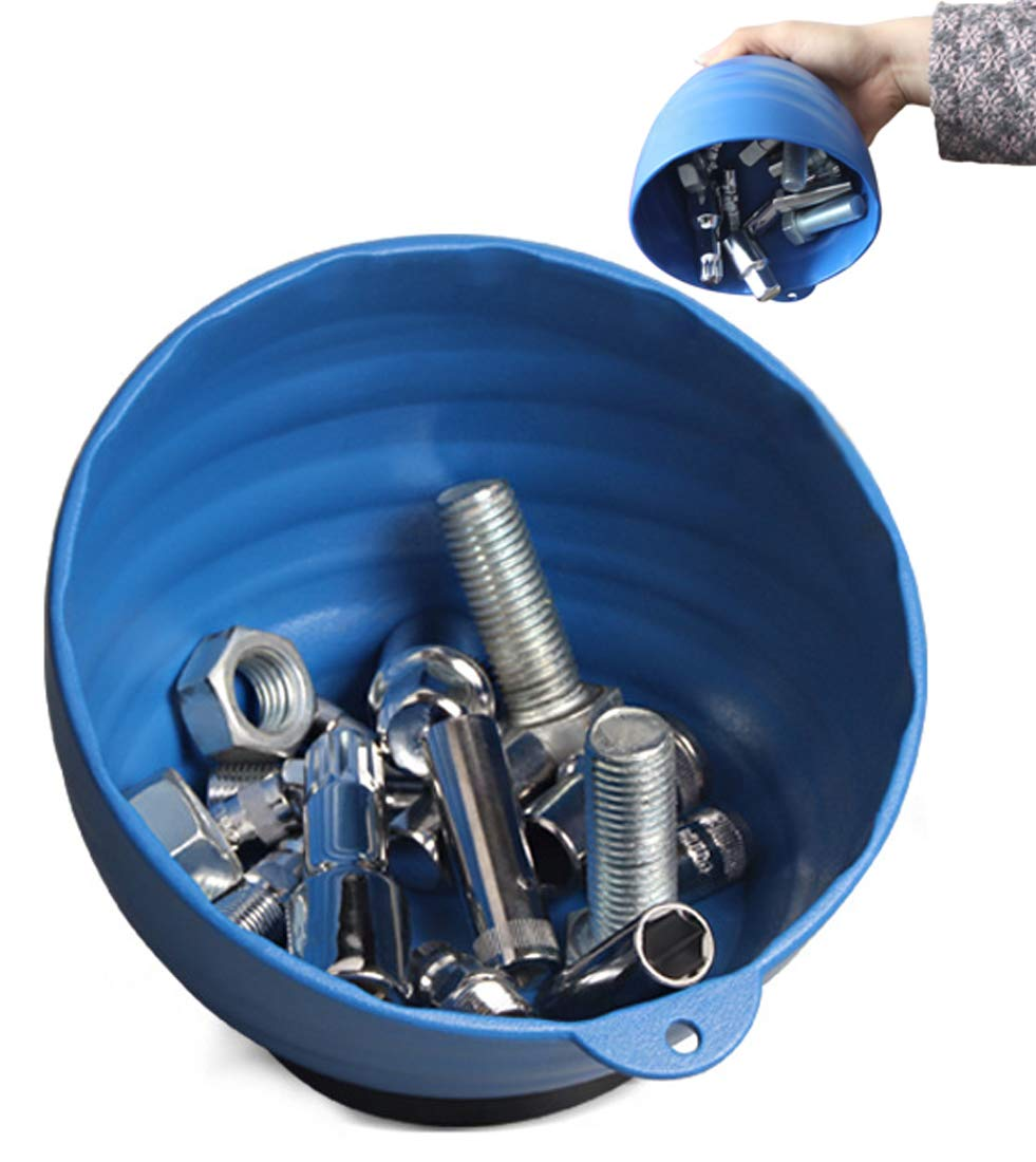 Magnetic Parts Tray Screws Tools Nut and Bolt Holder Round Deep ABS Bowl with Rubber Coated Strong Neodymium Magnet
