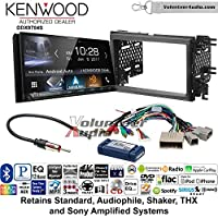 Volunteer Audio Kenwood DDX9704S Double Din Radio Install Kit with Apple Carplay Android Auto Fits 2007-2010 Edge (With factory amplified sound)