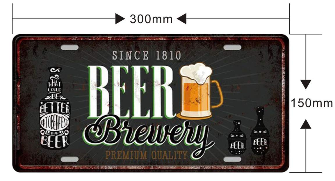 Pub Color1 pubblicit/à e Pittura in Ferro 4 Pezzi Ferro casa 3015 cm Decorazioni da Parete per Birra MGJJ Targhe Decorative in Metallo in Rilievo per Bar 15 * 30cm
