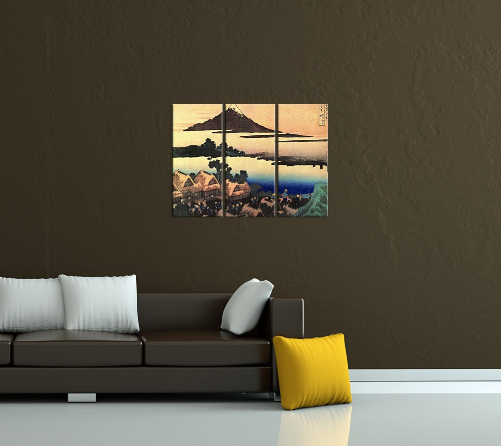 Bilderdepot24 Kunstdruck - Alte Meister Meister Meister - Katsushika Hokusai - Morgendämmerung bei Isawa in der Provinz Kai - 150x90cm dreiteilig - Leinwandbilder - Bild auf Leinwand 9fd493
