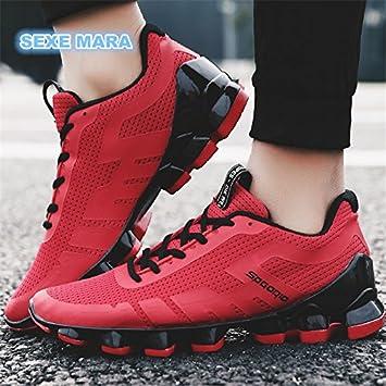 Venta caliente hombres zapatillas nuevas zapatillas exterior hombres zapatos deportivos marca trotar cuña instructores transpirable rebote antideslizante: ...