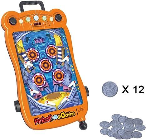 HRXQ Mini Pinball Machine Toy Juego De Pinball para Niños Mini Pinball Juego De Mesa Interactivo para Padres E Hijos Puzzle Pinball Game Machine Regalo De Cumpleaños para Little Boy: Amazon.es: Hogar