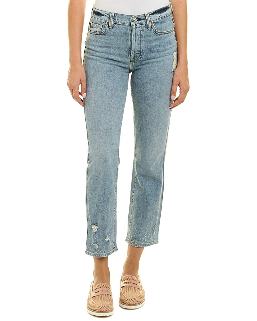 34d889949fe4 Amazon.com: 7 For All Mankind Womens Edie w/Bleach & Holes in Mineral Desert  Springs 2: Clothing