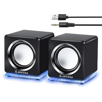 amazon com arvicka computer speaker led accents usb speaker small rh amazon com