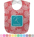Coral & Teal Baby Bib (Personalized)