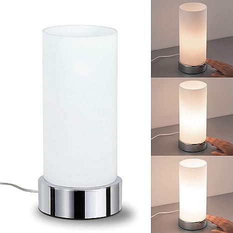 Berührungssensor Schlafzimmerlampe Kleine dimmbare Tischlampen mit Glas Schirm