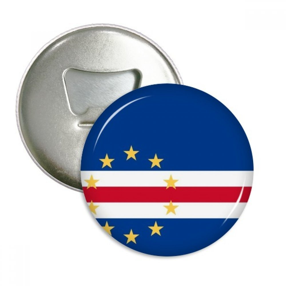 Cape Verde National Flag Africa Country Round Bottle Opener Refrigerator Magnet Pins Badge Button Gift 3pcs by DIYthinker (Image #1)